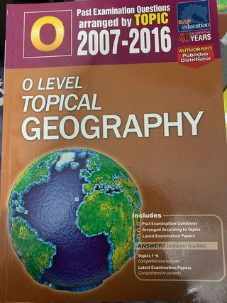 🚚 O level topical geography tys