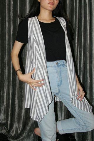 cardigan stripes, outwear stripes, gray stripes