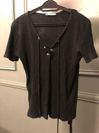 Zara lace up top