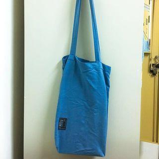 🚚 水藍帆布肩背包(A4可放入)