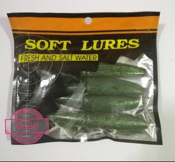 "5"" Soft Plastic Lure /Fishing Bait - Shiny Green"