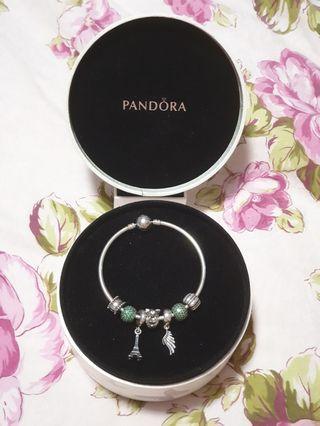 Pandora Bracelet and Charms Set