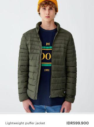 ORIGINAL PULL AND BEAR LIGHTWEIGHT PUFFER JACKET