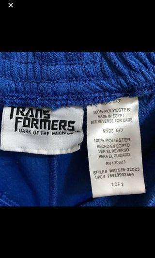 Transformers 變形金剛 藍色 排汗 運動褲 籃球褲 兒童 埃及製造