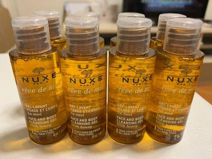 NUXE face and body cleansing gel 40ml x 8 (made in france)