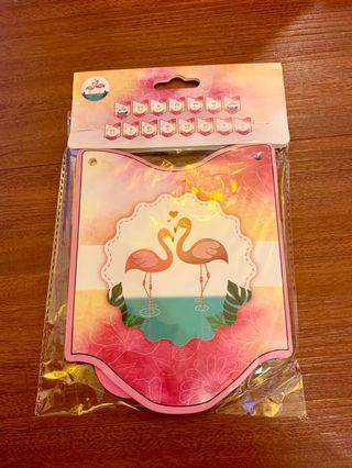 "🚚 Flamingo ""happy birthday"" bunting"