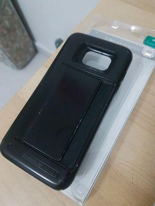 🚚 Selling S7 Edge Black Case with card slot