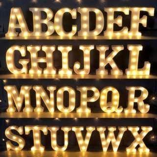 Alphabet LED lights for rent - A - Z / &