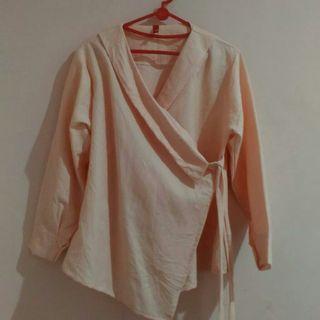 Blouse kimono peach #maujam