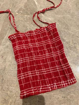Brandy Melville INS Red Checkered Cami