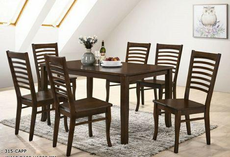 Dining Table Set (DARK OAK)