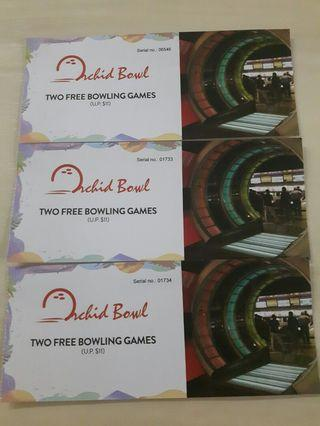 🚚 Blessing bowling tickets