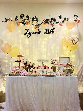 Rental of Floral theme decorations