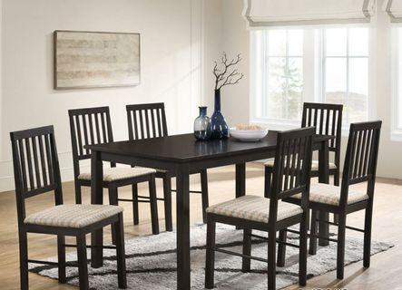 Dining Table Set (DARK WALNUT)