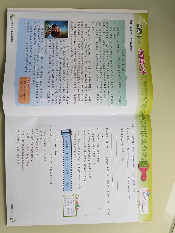 樂思中文閱讀及聆聽練習6上 (做了九個練習)