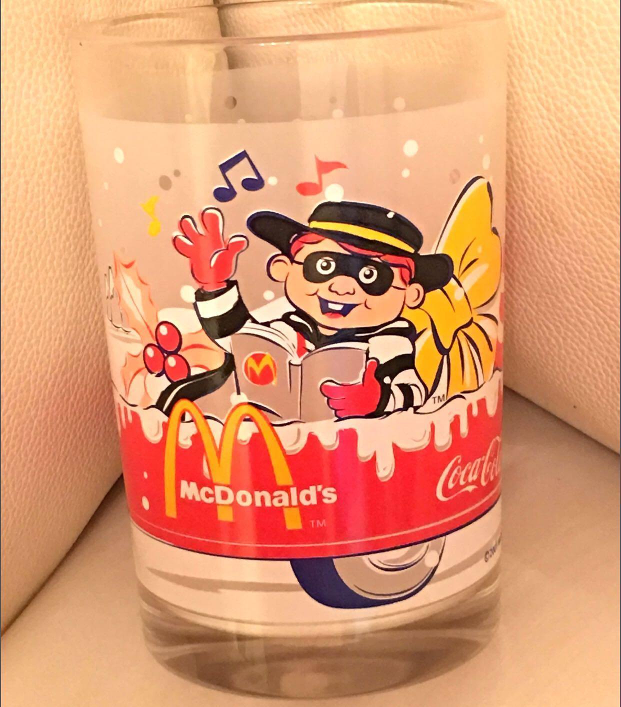 💢超值💢 2001年 可口可樂x麥當勞 紀念玻璃杯 CoCa Cola x McDonald's 2001 Limited Edition Glass