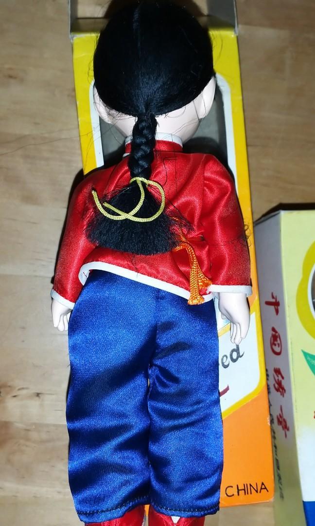 中國綉童娃娃 China Embroidered Doll 3個