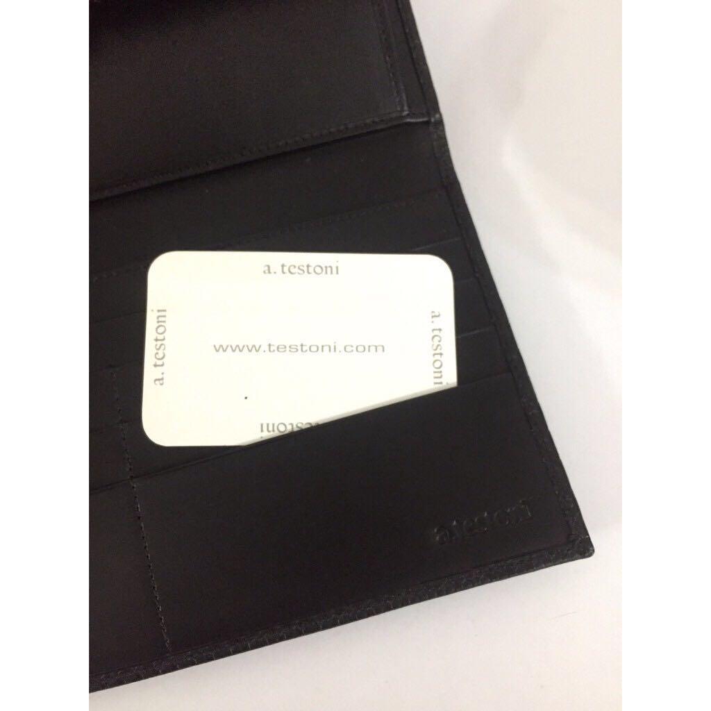 NEW a. testoni men clutch wallet  original USD$650