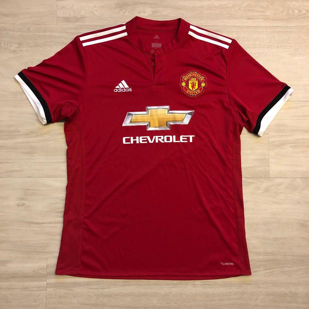 d552820e Adidas Man Utd 2017/2018 Home Kit (Authentic) L, Sports, Sports ...
