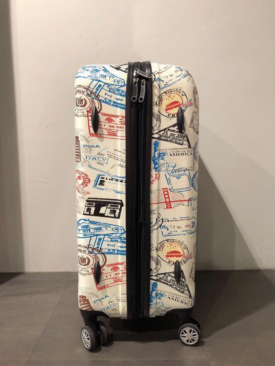 Airwalk 彩繪行李箱 28吋 滾輪