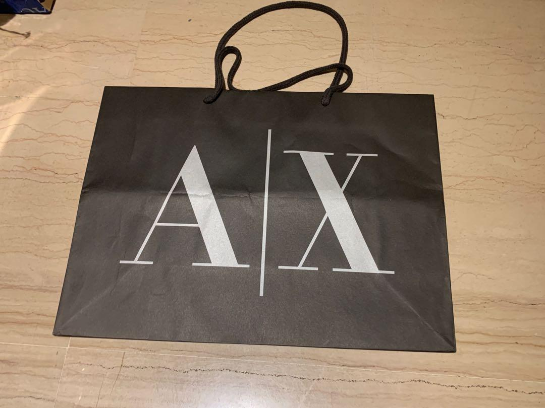 Armani Exchange Valentino Paper bags branded