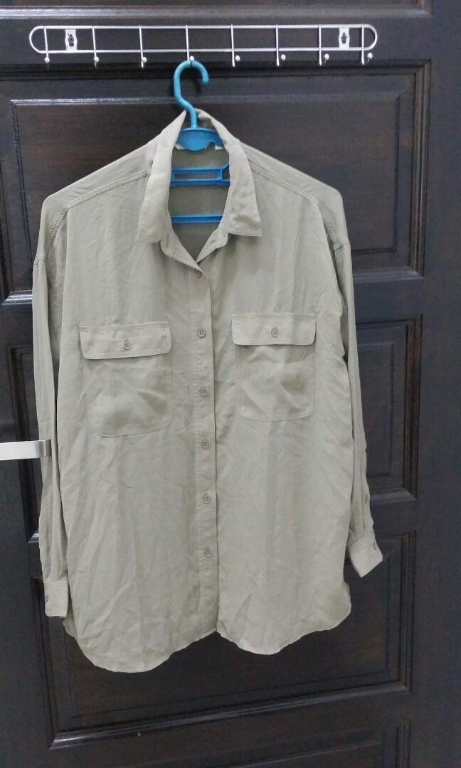 Army chiffon blouse