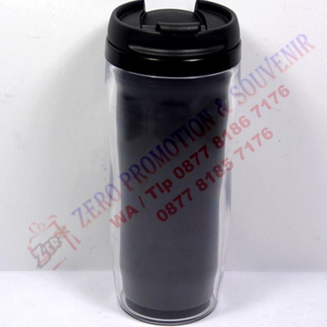 Barang Promosi Botol Minum Insert Paper Starbucks Hitam