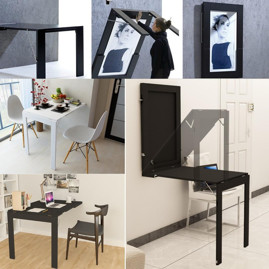 - Black Frame Wall Table Foldable Table, Furniture, Tables & Chairs