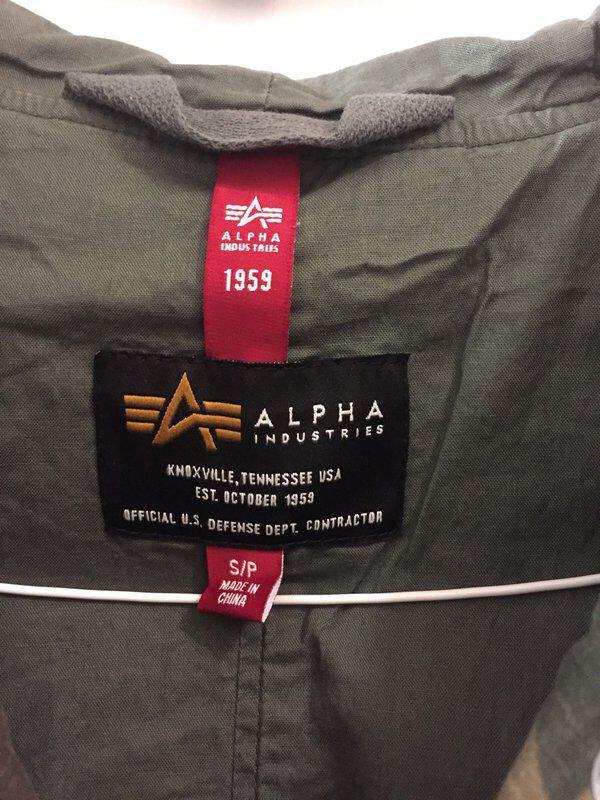 BNWT Alpha Industries Meri Fishtail Camo Field Coat Size Small