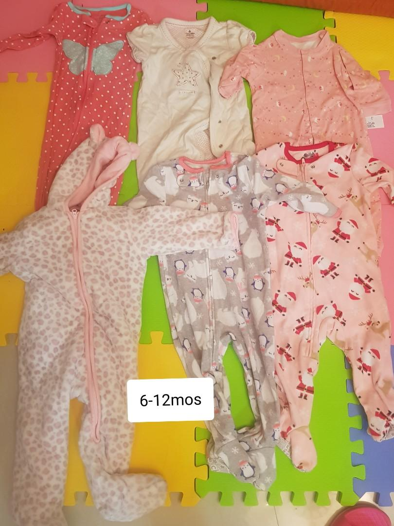Bodysuits and sleepsuits all branded 6-12mos