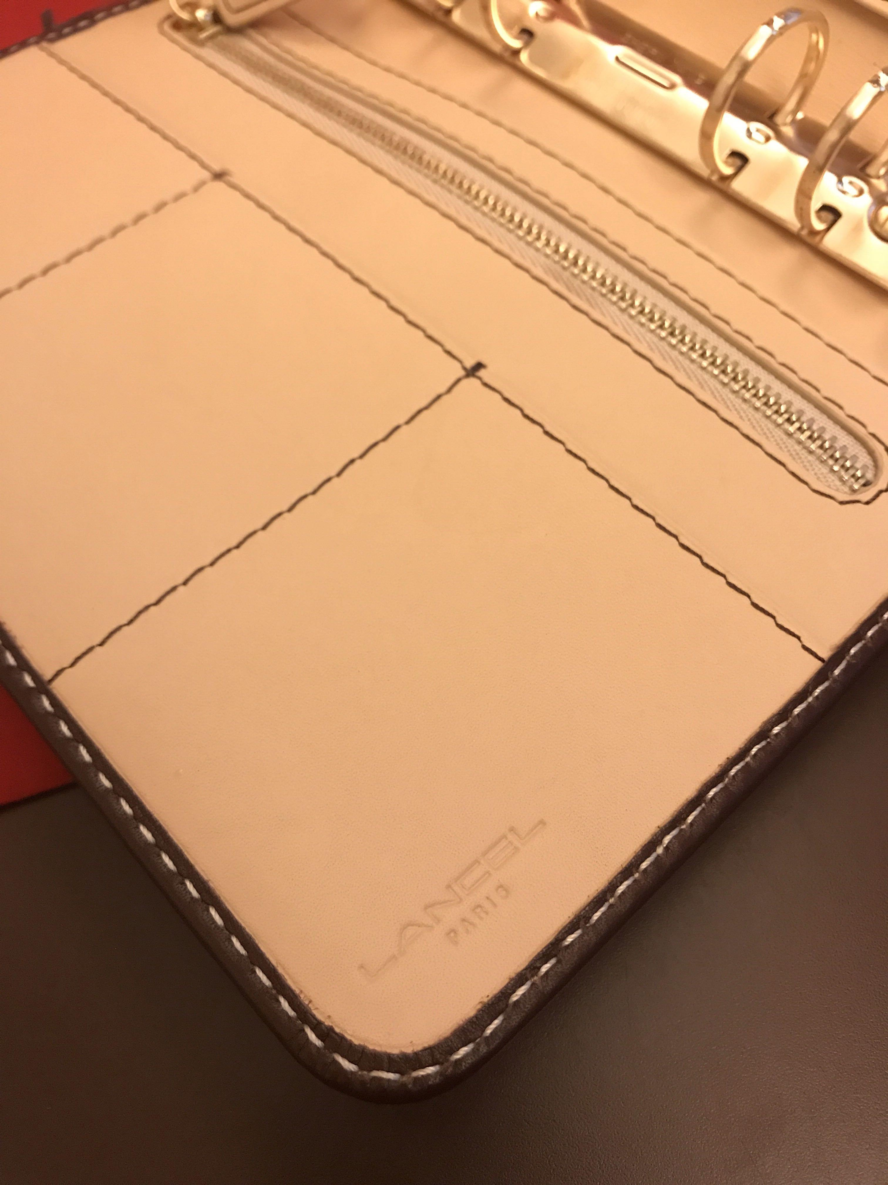 Brand new Lancel real leather brown color dairy book