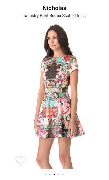 57f483335a1 Brand New Nicholas Print Tapestry Scuba Skater Dress (USD370), Women's  Fashion, Clothes, Dresses & Skirts on Carousell