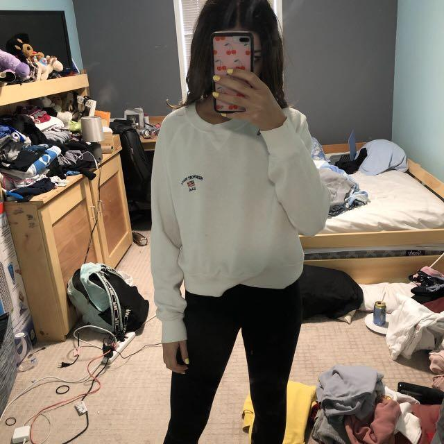 "BRANDY MELVILLE WHITE ""newport beach usa"" CREWNECK"