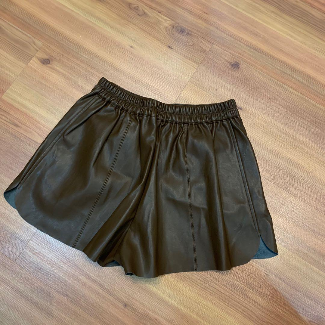 Brown Leather shorts