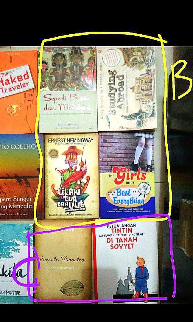 Buku Bekas Murah: Petualangan Tintin, Konrad, Ayu Utami dll