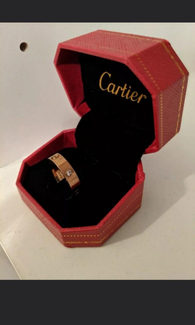 Cartier Rose Gold Ring - Dupe