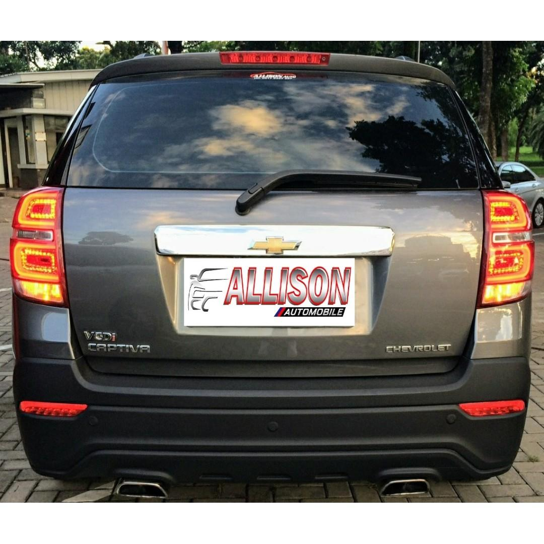 Chevrolet Captiva Diesel Facelift 2.0 AT 2014 Grey Dp 59,9 Jt No Pol Ganjil