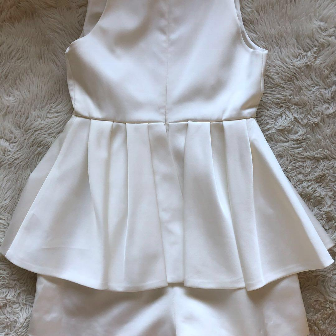 CMEO COLLECTIVE white Future Starts play suit
