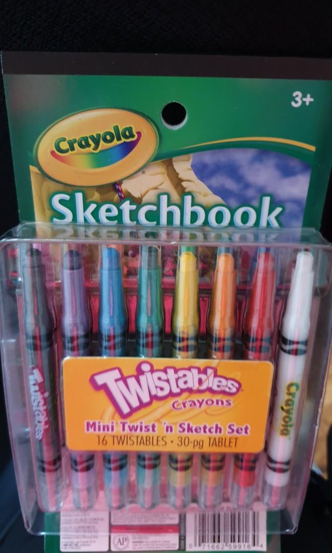 Crayola 16 Twistables Crayon & Sketchbook