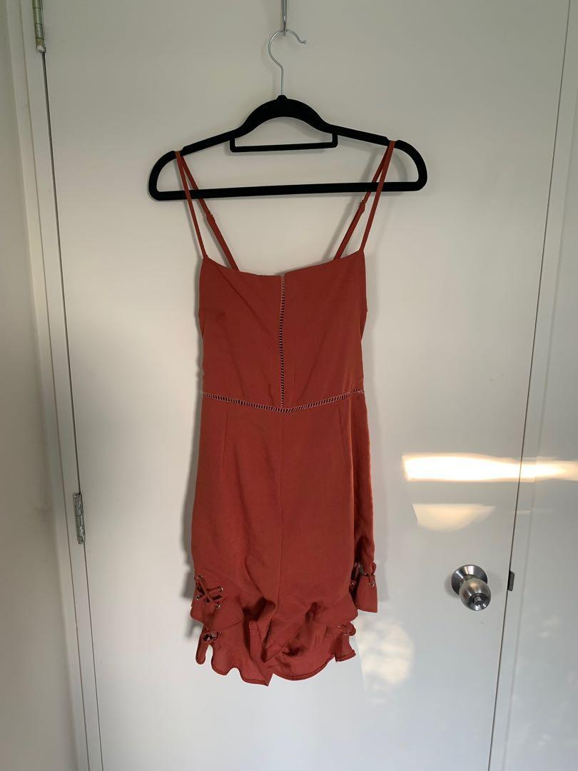 dolly girl fashion claireborne playsuit size 12