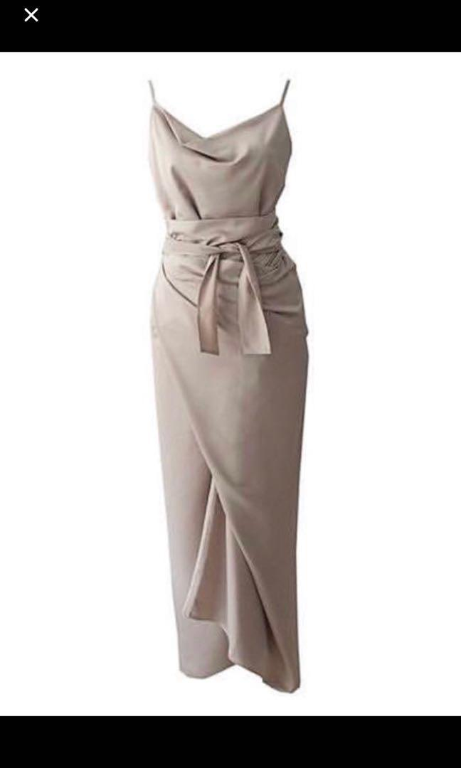Eclair collection  Dress, Gold Nude