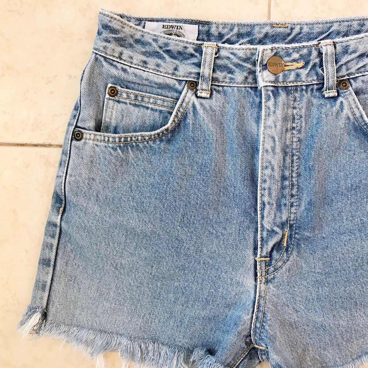 Edwin Vintage Highwaist Denim Frayed Shorts