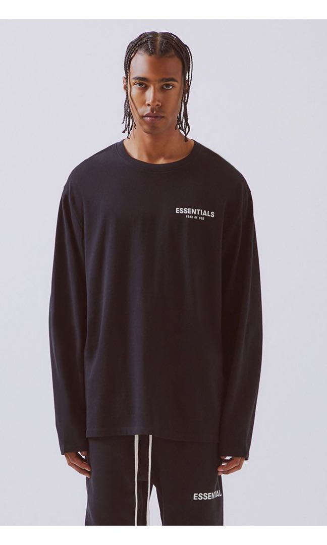 96619828 FOG-Fear Of God Essentials, Men's Fashion, Clothes, Tops on Carousell