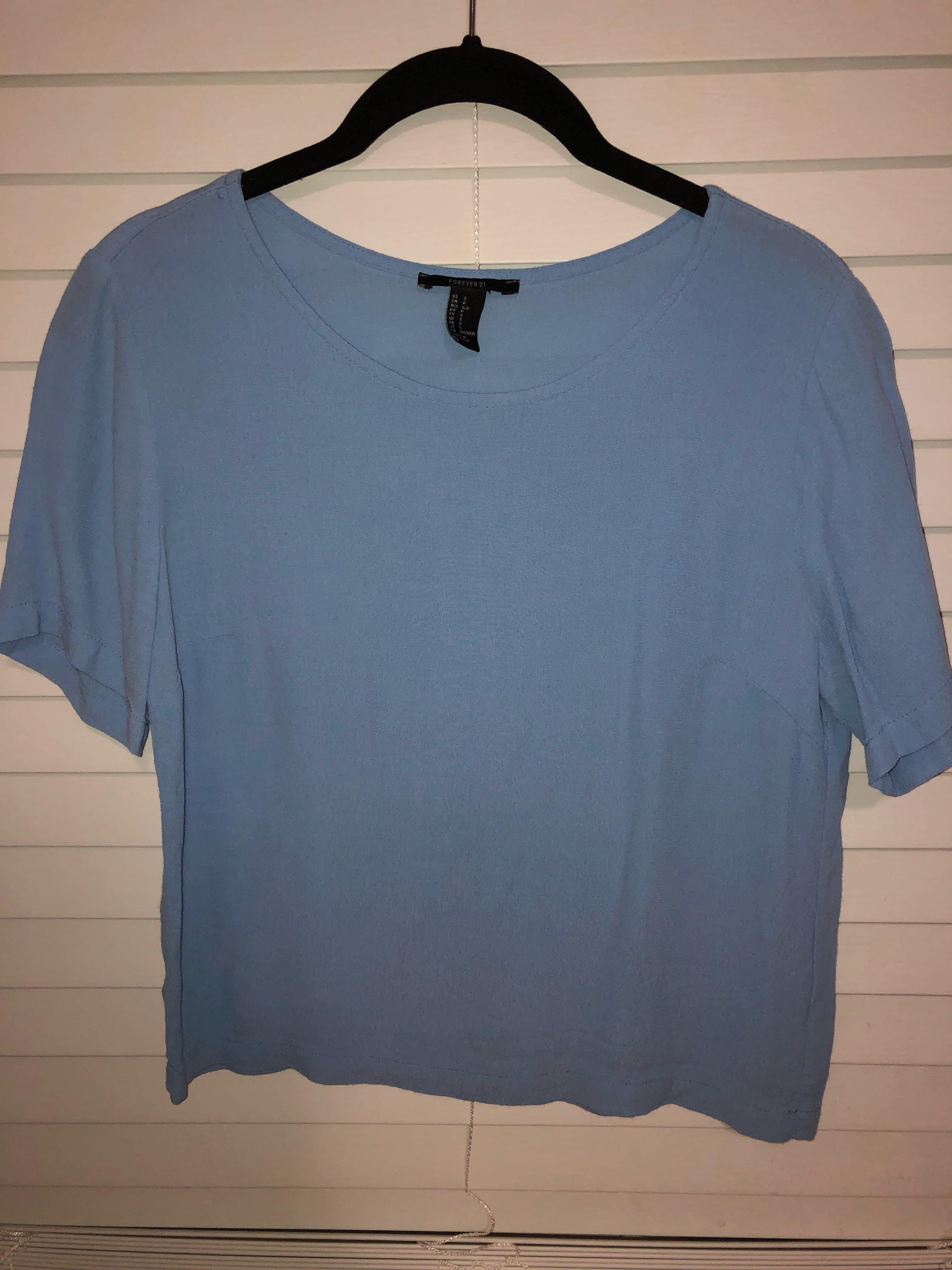 Forever 21 - Blue Short - Sleeved Top