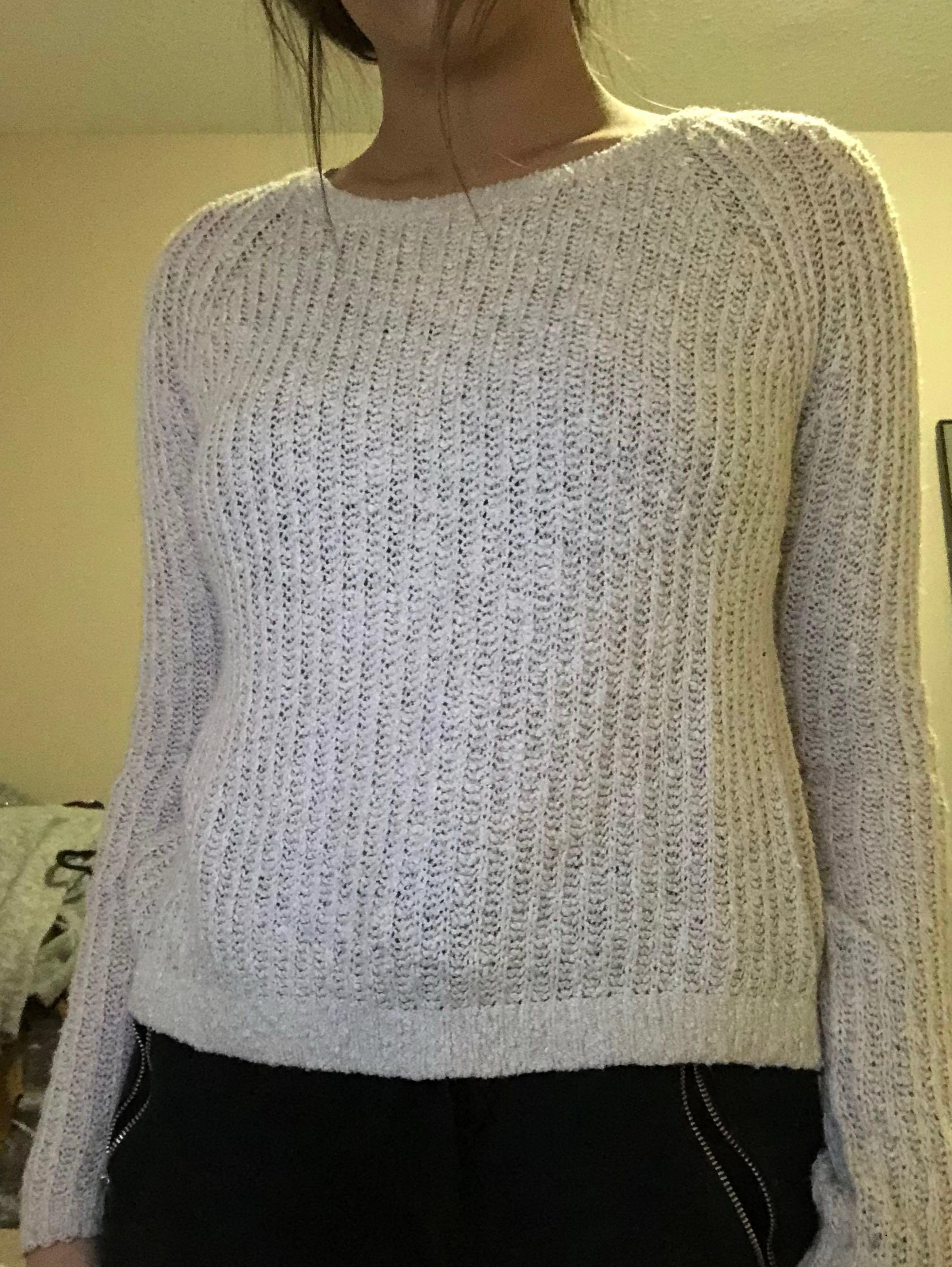 Garage - Light Pink Knitted Long-Sleeve Sweater