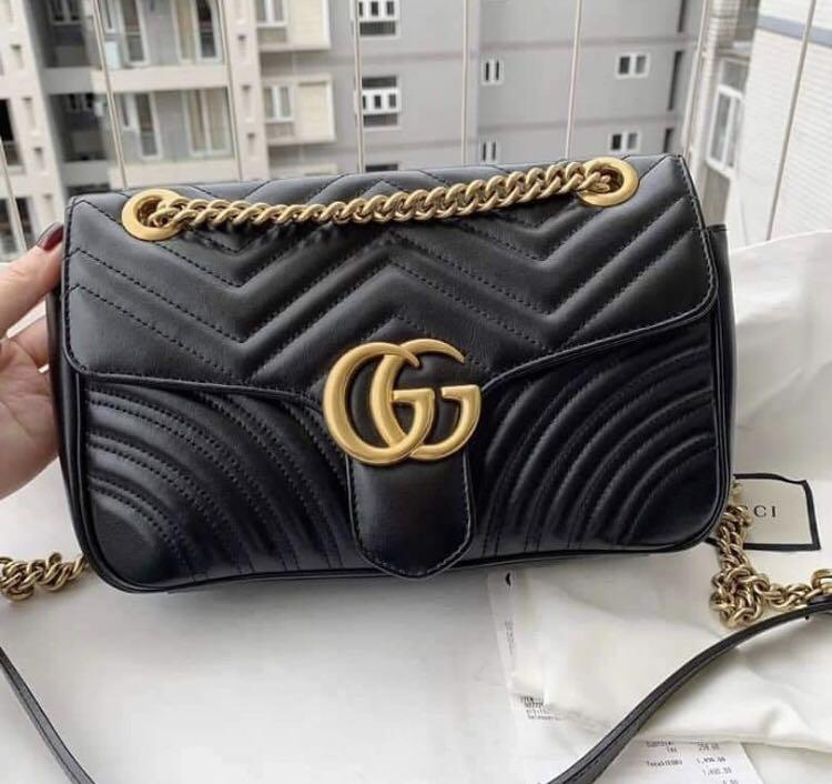 68c6bf3d5 Gucci Marmont Medium Flap on Carousell