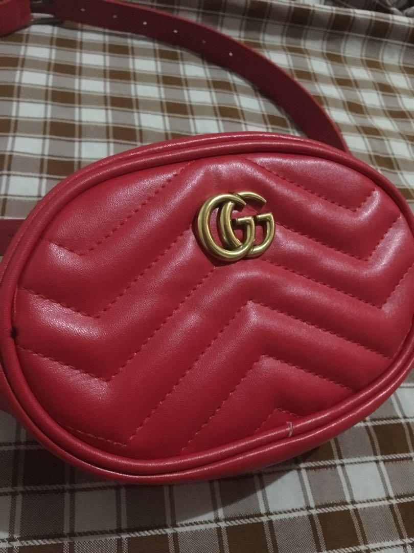 35d170543 Gucci-inspired fanny pack belt bag on Carousell