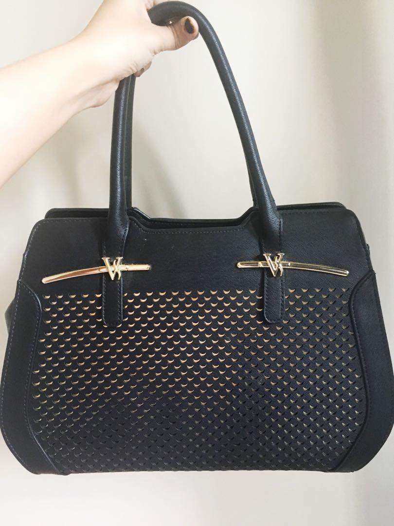 Handbag Hitam + Tali Panjang