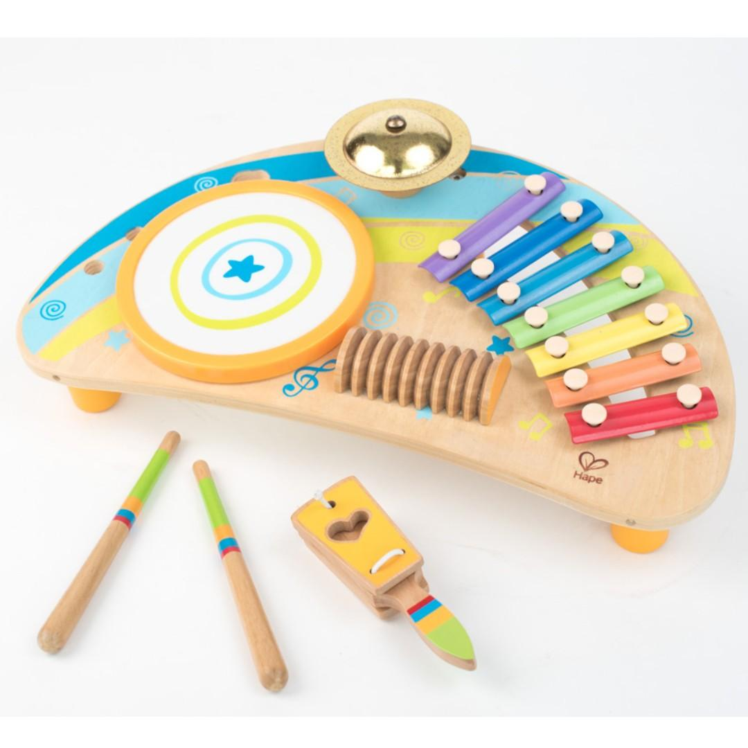 Hape Mighty Mini Band Wooden Percussion Instrument Rent T0020