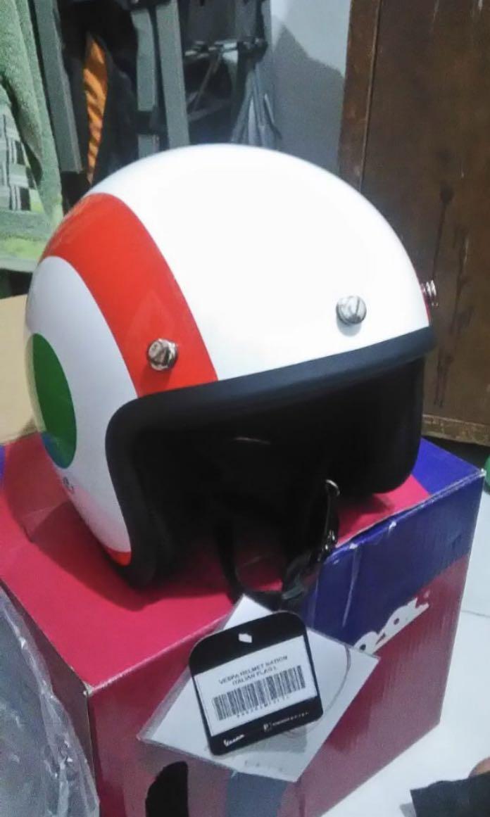Helm Italian Flag Vespa
